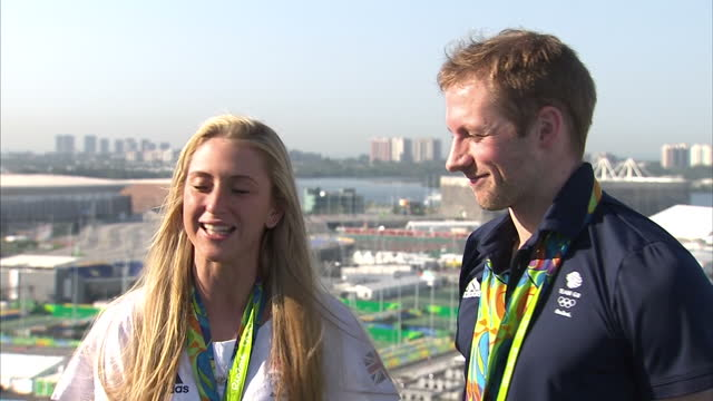 Team GB's Golden couple Laura Trott and Jason Kenny gold medallists spoke to Sky News a short time ago Laura said her achievement still doesn't feel...