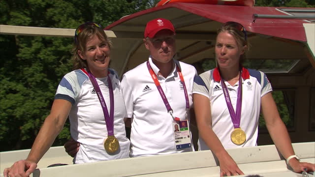 team gb's olympic medal haul has grown on day 7 of the games and includes a gold in the women's rowing the victory was a long time coming for... - olympic medal stock videos & royalty-free footage