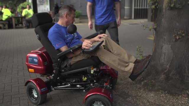 team imperial prior to the cybathlon event in zurich at imperial college in london united kingdom on wednesday sept 28 using a mechanical wheelchair... - uneven stock videos & royalty-free footage