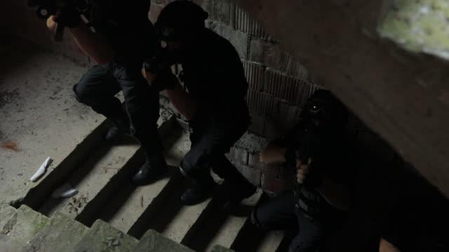 SWAT team in action