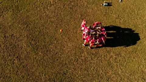 vídeos de stock e filmes b-roll de team mental preparation - râguebi desporto