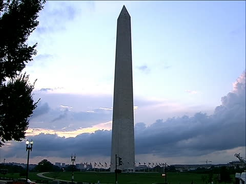 background a team of inspectors rappelled down the washington monument to look for damage caused by the august 2011 northeast earthquake engineers... - august stock videos & royalty-free footage