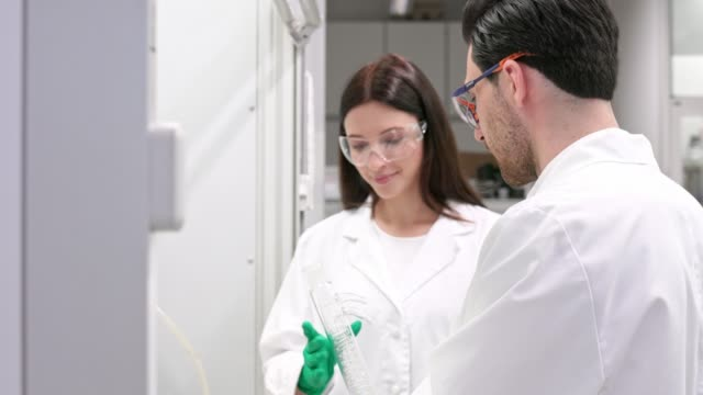 Team of medical research scientist working on new generation disease cure