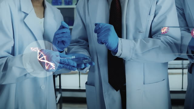 研究室の医学チーム - 黄色ブドウ球菌点の映像素材/bロール