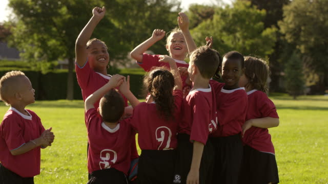 team of soccer players celebrating - sports team stock videos & royalty-free footage