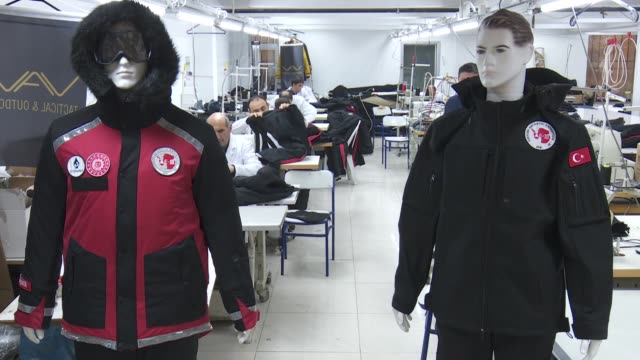 a team of turkish scientists are developing clothing especially designed to withstand subzero weather conditions in antarctica the world's coldest... - underwear stock videos & royalty-free footage