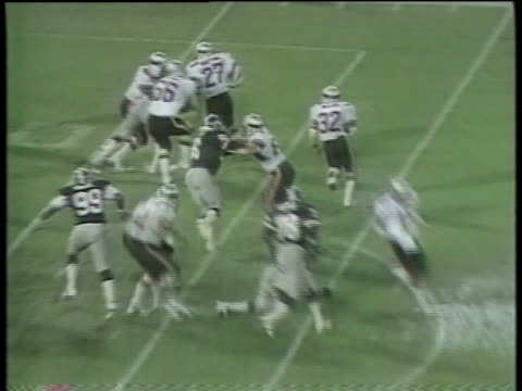 1984 ha ws pan usfl team pittsburgh maulers playing game against jacksonville bulls on wet, rain soaked field / jacksonville, florida, usa - 1984 stock videos & royalty-free footage