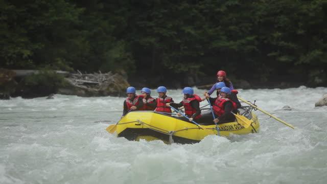 WS PAN Team rafting down river / Squamish, British Columbia, Canada