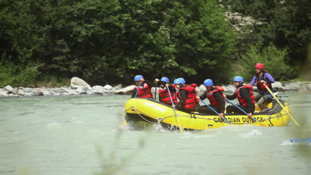 WS PAN Team rafting down river / Squamish, British Columbia, Canada