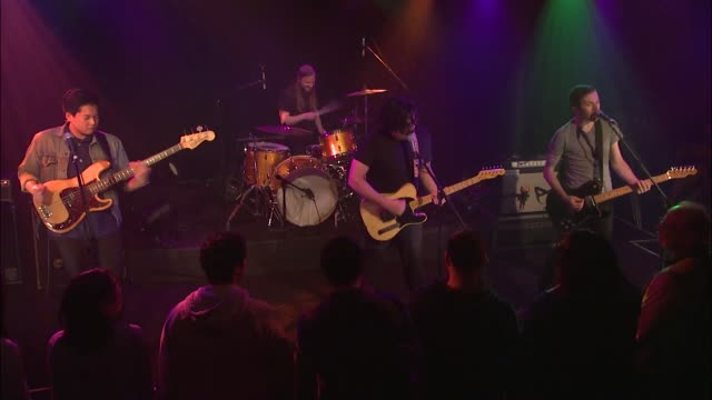 team spirit brought their garage rock sound to jbtv with their song, 'new years resolution.' - rock moderno video stock e b–roll