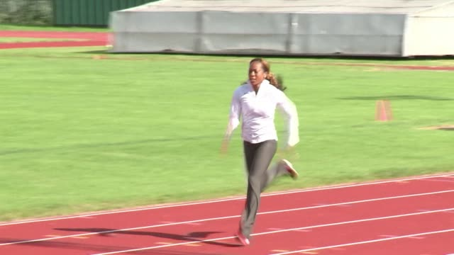 team usa's track and field squad have been in training ahead of the start of the athletics competition in the olympics stadium london united kingdom - united states national team stock videos & royalty-free footage