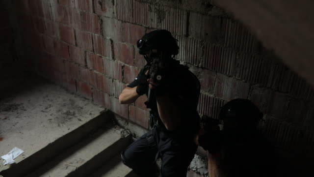 swat team - aiming stock videos & royalty-free footage