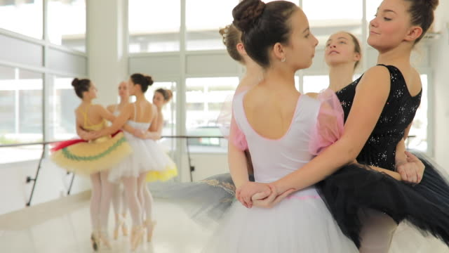 team work at ballet class - barre fitness stock videos and b-roll footage