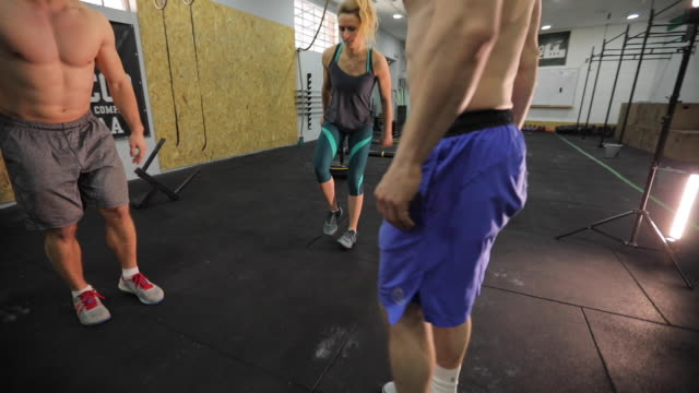team work at the gym - on one leg stock videos & royalty-free footage
