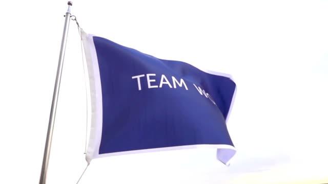 team work flag - recruitment stock videos & royalty-free footage