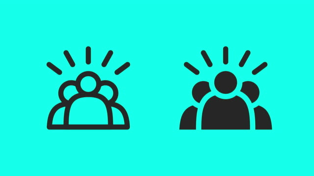team work icons - vector animate - admiration stock videos & royalty-free footage