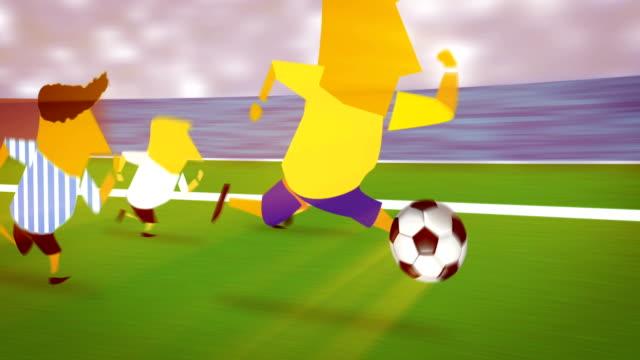 vídeos de stock, filmes e b-roll de times de futebol de futebol da fifa - campo de futebol