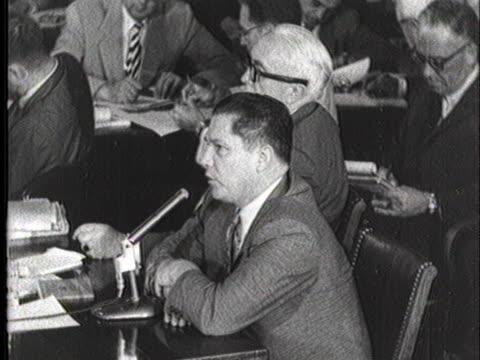 teamster leader jimmy hoffa testifies before the mcclellan committee. - 1957 stock videos & royalty-free footage