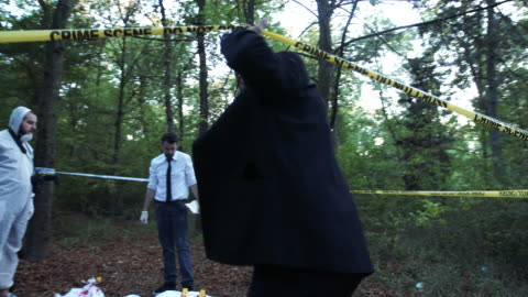 teamwork at the crime scene 4k - gory of dead people stock videos & royalty-free footage