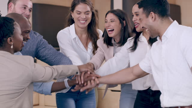 teamwork is the fabric that binds a business together - heap stock videos & royalty-free footage