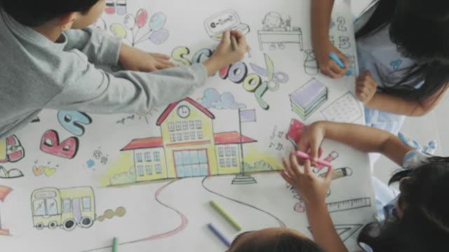teamwork van tekening klasse