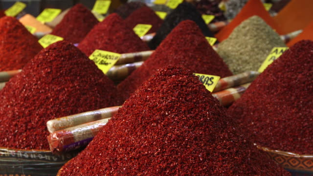 teas and spices sold at market - turkey middle east stock videos & royalty-free footage