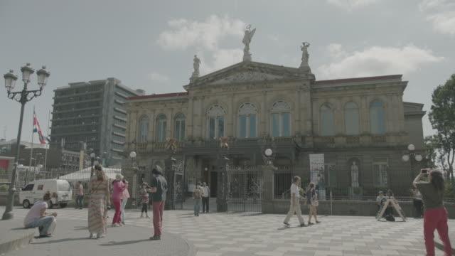 teatro nacional de costa rica - costa rica stock videos & royalty-free footage