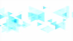 Tech minimal video animation with blue triangles