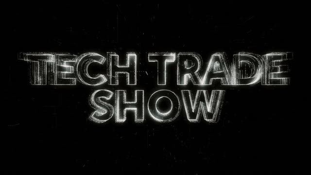 tech trade show words animation - contestant stock videos & royalty-free footage