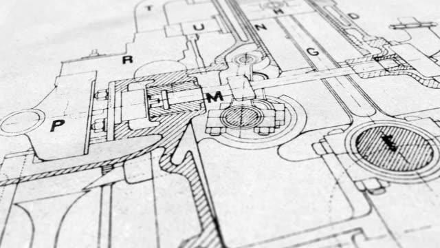 technische zeichnung - zeichnen stock-videos und b-roll-filmmaterial
