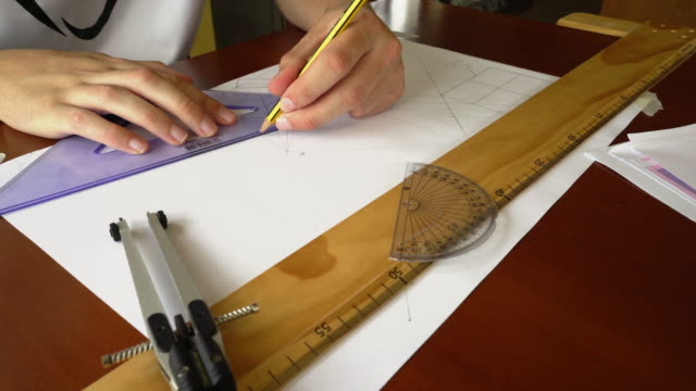 technical drawing - drawing compass stock videos & royalty-free footage