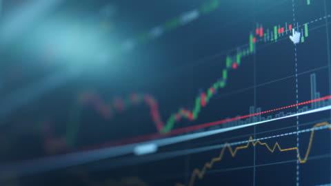 vídeos y material grabado en eventos de stock de técnicos analistas financieros ven gráficos - global finance