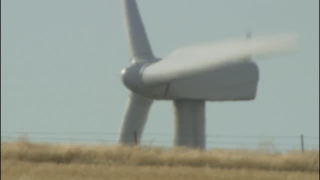 a technician performs maintenance on a wind turbine in the klondike wind farm. - klondike stock videos and b-roll footage