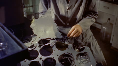 cu ms technicians testing parts for evidence / washington d.c., united states - wrack stock-videos und b-roll-filmmaterial