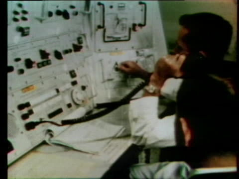 technicians work at instrument panels in order to fire a missile test. - control panel stock videos & royalty-free footage
