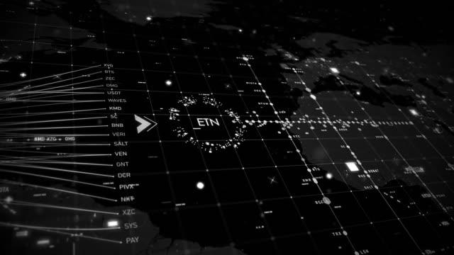 vídeos y material grabado en eventos de stock de cryptocurrencies tecno grid - cadena de bloques
