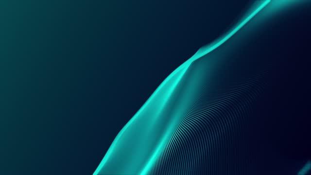 vídeos de stock, filmes e b-roll de fundo tecnológico 4k - loop - turquesa - azul turquesa