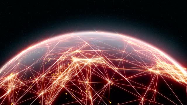 technologic earth 4k - plexus stock videos & royalty-free footage
