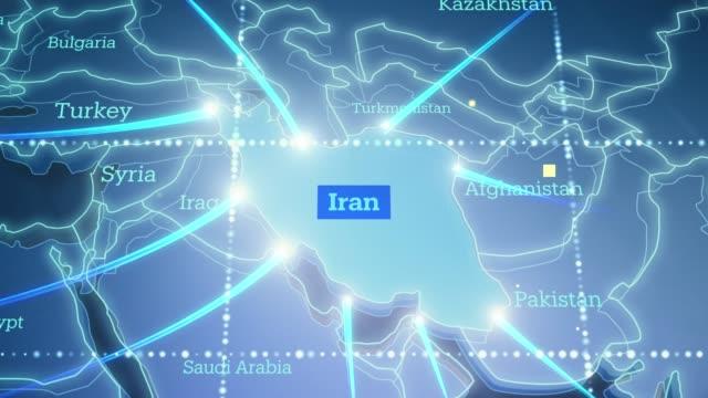 イランへのテクノロジックアース接続 - 4k - 中東点の映像素材/bロール