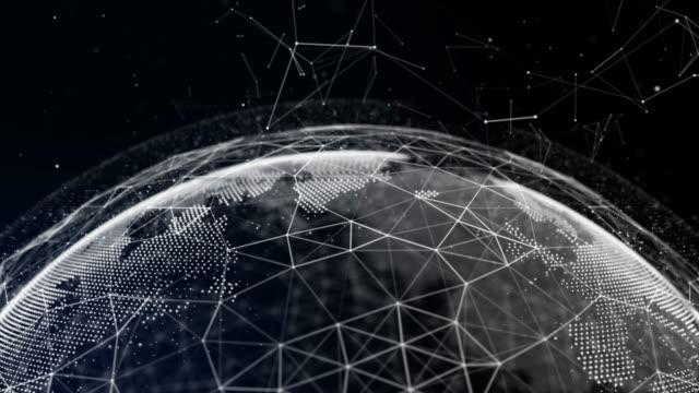 stockvideo's en b-roll-footage met 4k technologische economie aarde - uitwisselen