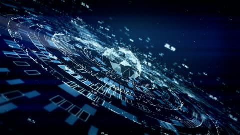 vídeos y material grabado en eventos de stock de tecnológicos datos financieros, azul - estrategia