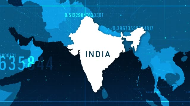 technologic india map 4k stock video - climate map stock videos & royalty-free footage