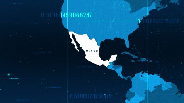 technologic mexico map 4k stock video - climate map stock videos & royalty-free footage