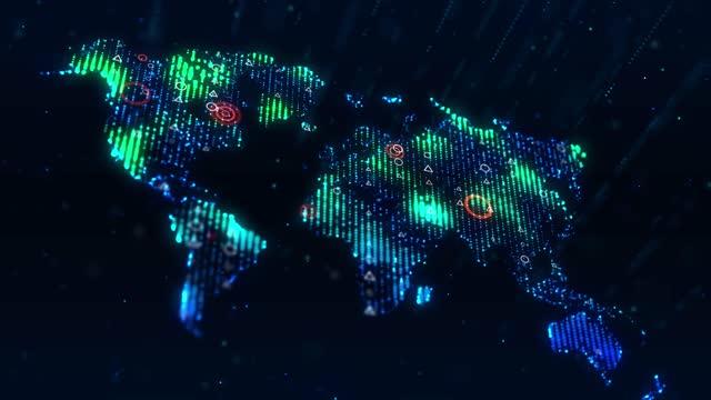 4k technologic world map - terrorism stock videos & royalty-free footage