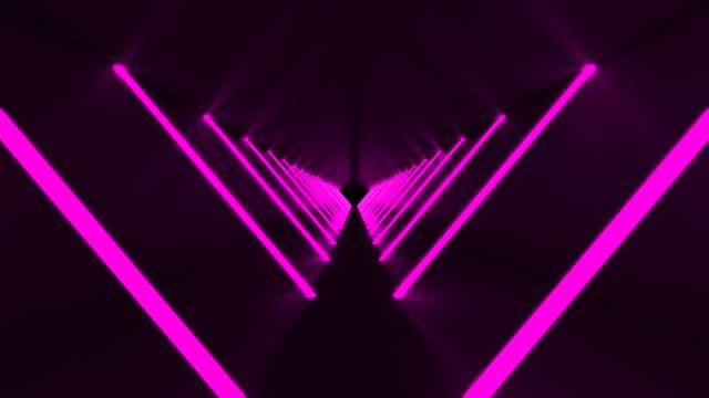 technological endless loop tunnel with pink lights - music video stock videos & royalty-free footage