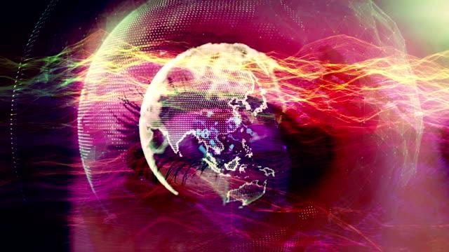 technological eye - human eye stock videos and b-roll footage