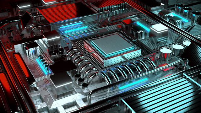cpu technology - 4k resolution - computer chip stock videos & royalty-free footage