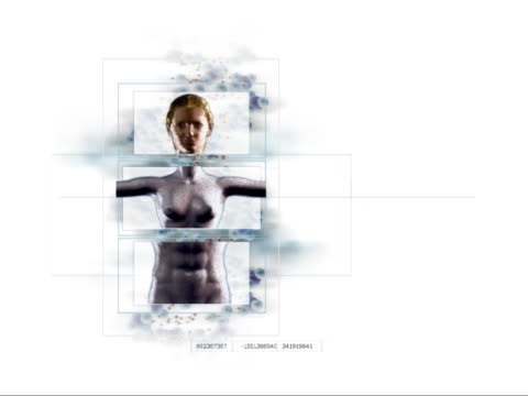 technology altering human form and gender - biomedical illustration stock videos & royalty-free footage