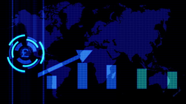 technology and finance abstract background