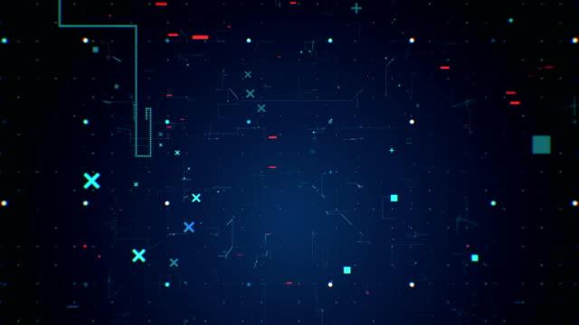 stockvideo's en b-roll-footage met digitale omgeving lus 4k van de achtergrond van de technologie - loop elementen